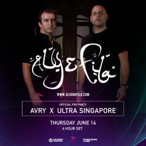 Avry Singapore 4 hour Set Official Pre-Party Ultra Music Festival Singapore, June 14