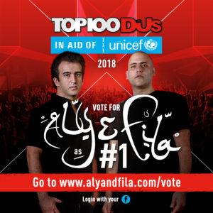 DJ MAG TOP 100 2018 ALY & FILA INSTAGRAM